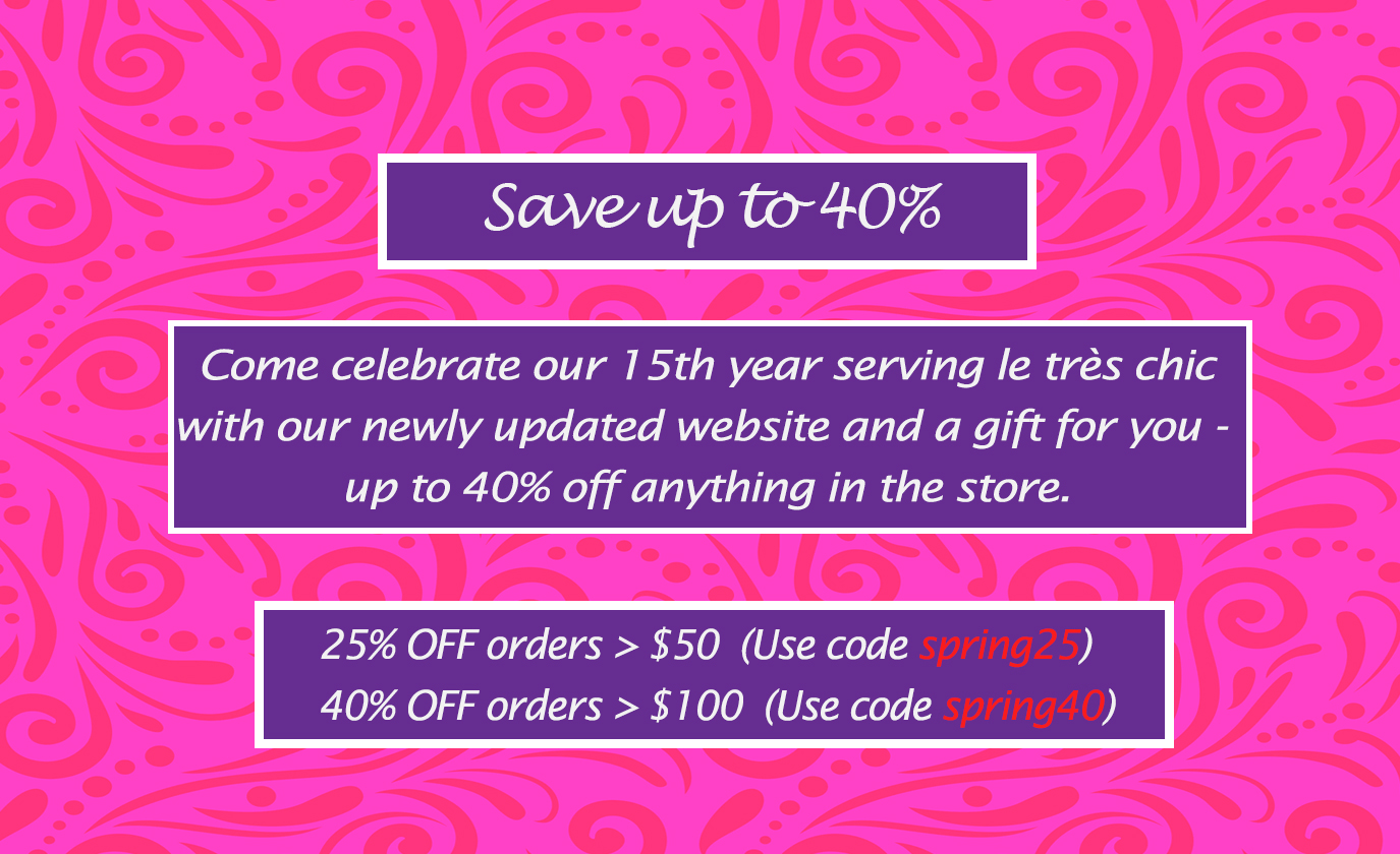 Shop and Save Up to 40%